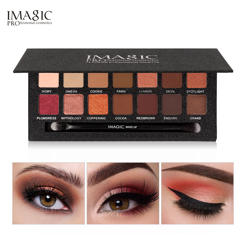 цена IMAGIC Brand Eyeshadow Shimmer Matte Fashion Eye Shadow Wiht Brush Eyeshadow Palette Eyes Cosmetics