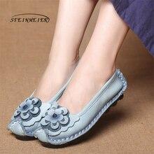 Купить с кэшбэком Women Ballet Casual Shoes Women Genuine Leather Shoes Flats Flexible Nurse Loafer Flats Comfortable Mom Pregnant Shoes woman