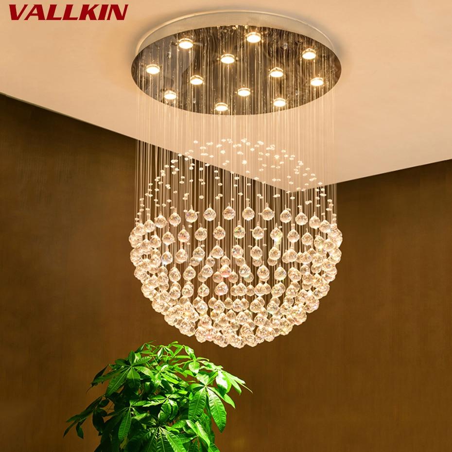 LED K9 Modern Crystal ChandeliersLight Fixture Luxury K9 Crystalline Chandelier Lighting Indoor Home Decocation Hanging Lamps цена