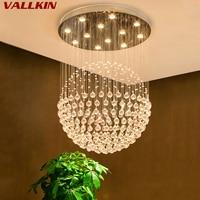 LED K9 Modern Crystal ChandeliersLight Fixture Luxury K9 Crystalline Chandelier Lighting Indoor Home Decocation Hanging Lamps