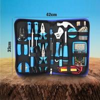 25pcs Electrician Tool Kit Set Household Tools Set With 382 Multimeter Multi function Hardware Kit Hand Tools