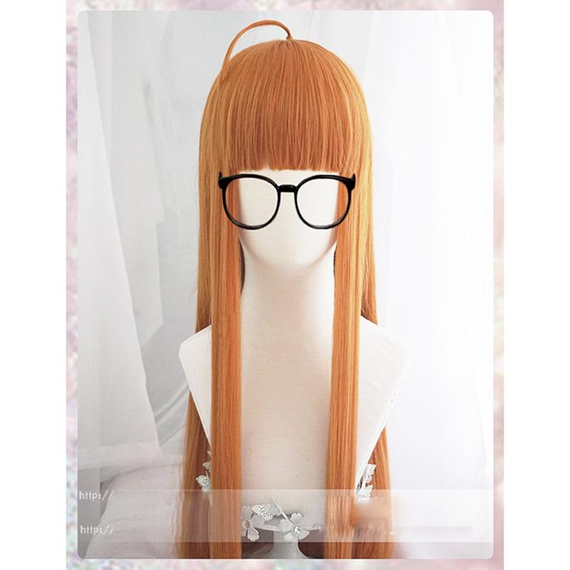 Anime Persona 5 Futaba Sakura Perücke Cosplay Kostüm Frauen Lange Synthetische Haar Halloween Partei Rolle Spielen Perücken + Haarnetz