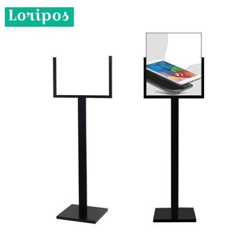 Black Metal Poster Stand For Display Advertising Banner Support Stand Holder POP Picture Price Tag Display Rack Floor Menu Stand