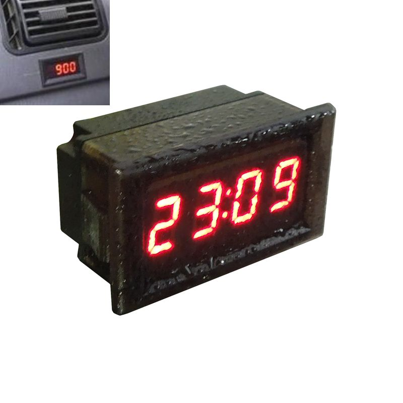 Digital LCD Car Dashboard Desk Date Time Calendar Clock W2