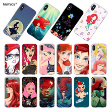 MaiYaCa Ariel Little Mermaid Transparent Soft Phone Case Accessories Cover For iPhone X XS MAX XR 5s 6s 7 8plus 11pro max case