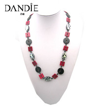 Dandie Fashion Black Red Shell Neckalac, Fit For A Woman To Wear In The Summer
