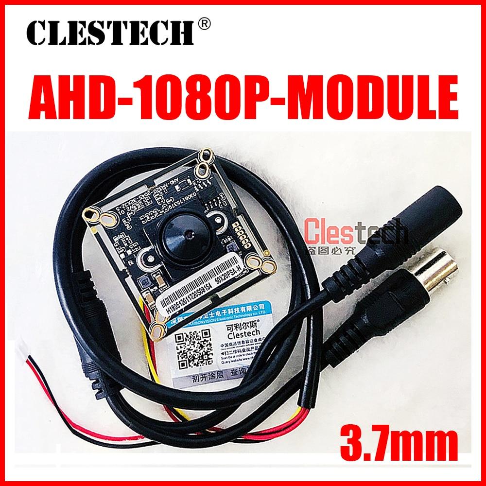 Free Shipping 1920*1080p Ahd 200W Mini HD Camera Chip Monito Board Module 3.7mm Lens Pointed Cone+Monitoring Circuit Bnc Cable