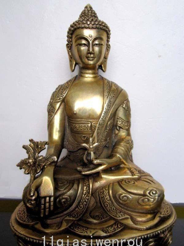 Tibet Tibet Buddhis Bhaisajyaguru tunc, oyma əjdaha buddha - Ev dekoru - Fotoqrafiya 4