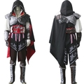 Assassins Creed Ezio Cosplay Traje Trajes de Halloween para Homens Full Set Personalizado