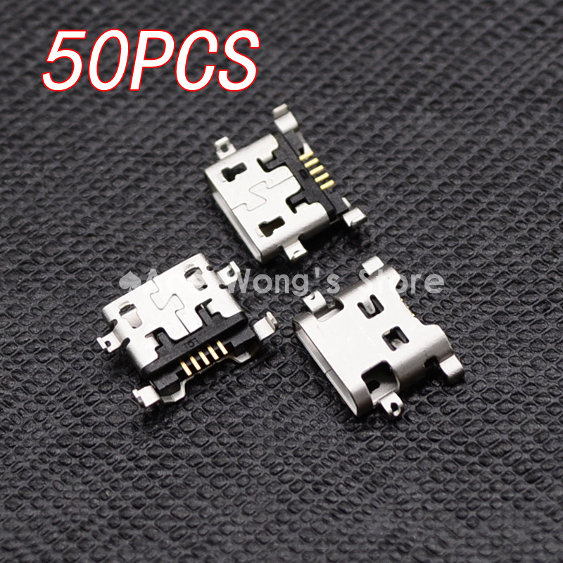 50pcs Micro USB 5pin B type Female Connector For Mobile Phone Micro USB Jack Connector 5 pin Charging Socket 10x mini usb type b 5pin female connector adapter for mobile phone mini usb jack connector 5 pin charging socket plug hy1374 10