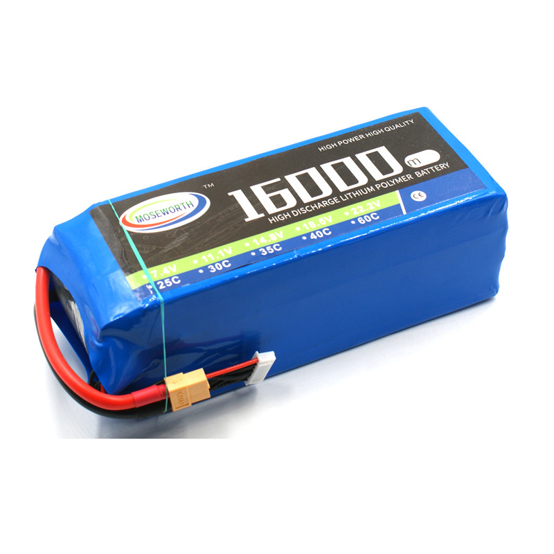 Lipo Battery 6S 22.2V 16000mAh 25C For RC Helicopter Drone Quadcopter Airplane Car Boat Truck Remote Control Toys Lipo Battery yizhan i8h 4axis professiona rc drone wifi fpv hd camera video remote control toys quadcopter helicopter aircraft plane toy