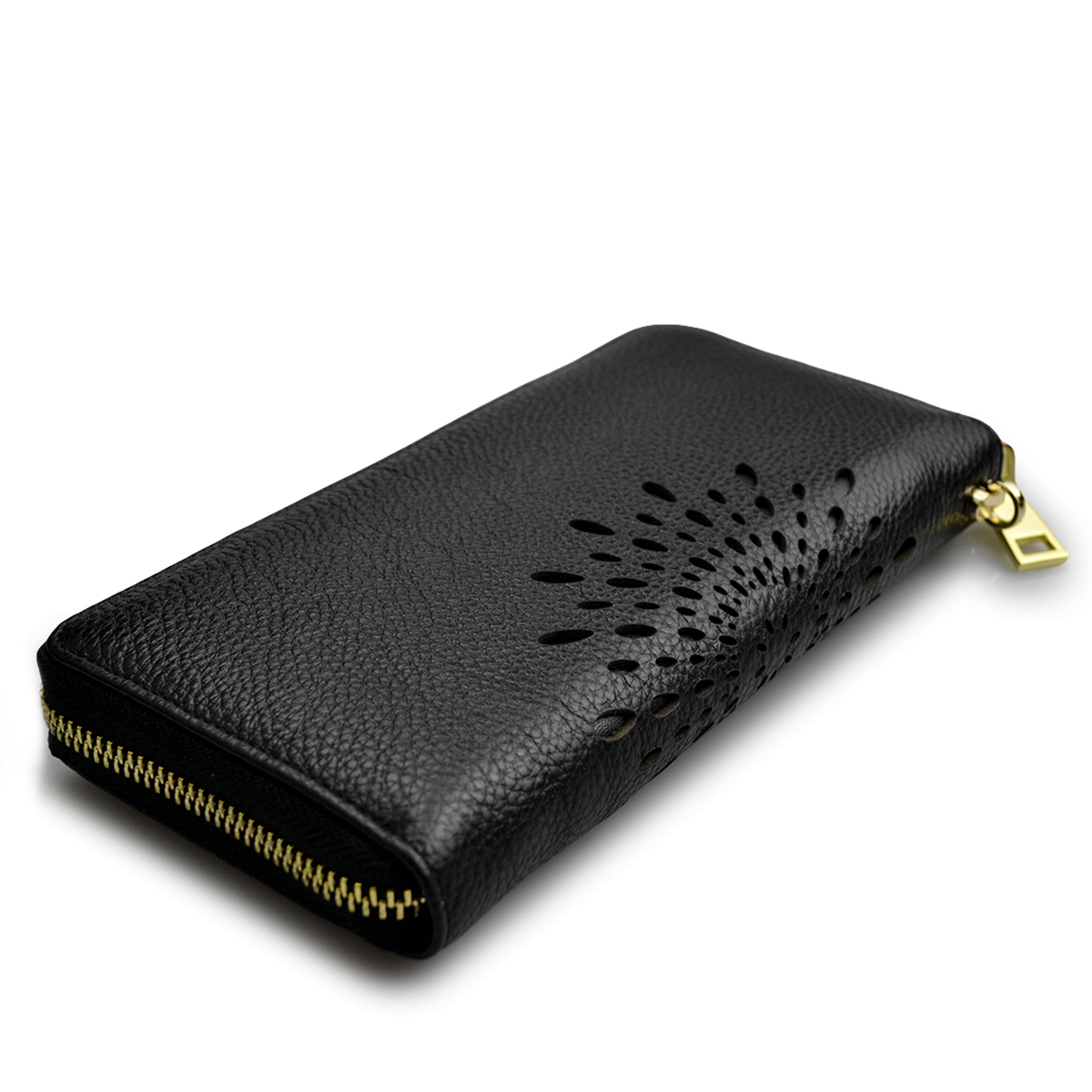 2018 Real Genuine Leather Women Wallets Brand Design High Quality Cell phone Card Holder Long Lady Wallet Purse Clutch