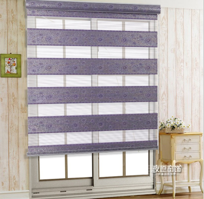 Home decor curtains for windows double layer shade roller for Decor blinds and shades