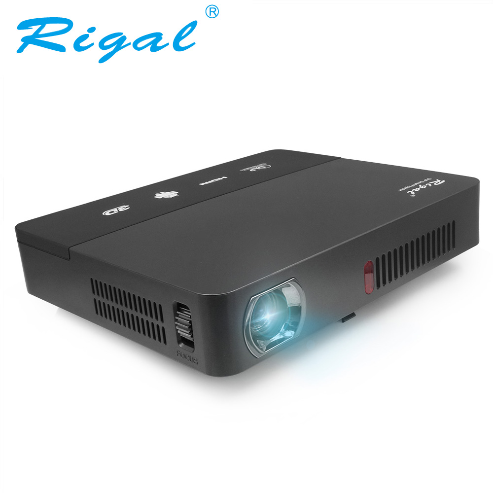 Projetor Rigal, Projetor DLP MINI LED WIFI 4.4 Android Bateria Imbutida RD601, Projetor de Cinema para Casa Bluetooth Miracast Raio 3D
