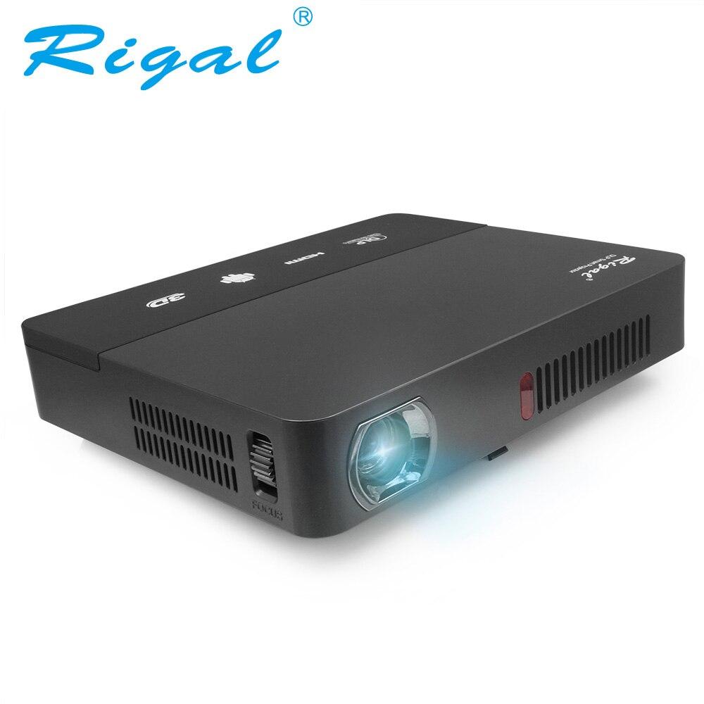 Rigal Projecteur RD601 10000 mah Batterie Android (En Option) WIFI LED MINI DLP HD Projecteur 3D Beamer 350 ANSI Lumens Home Cinéma