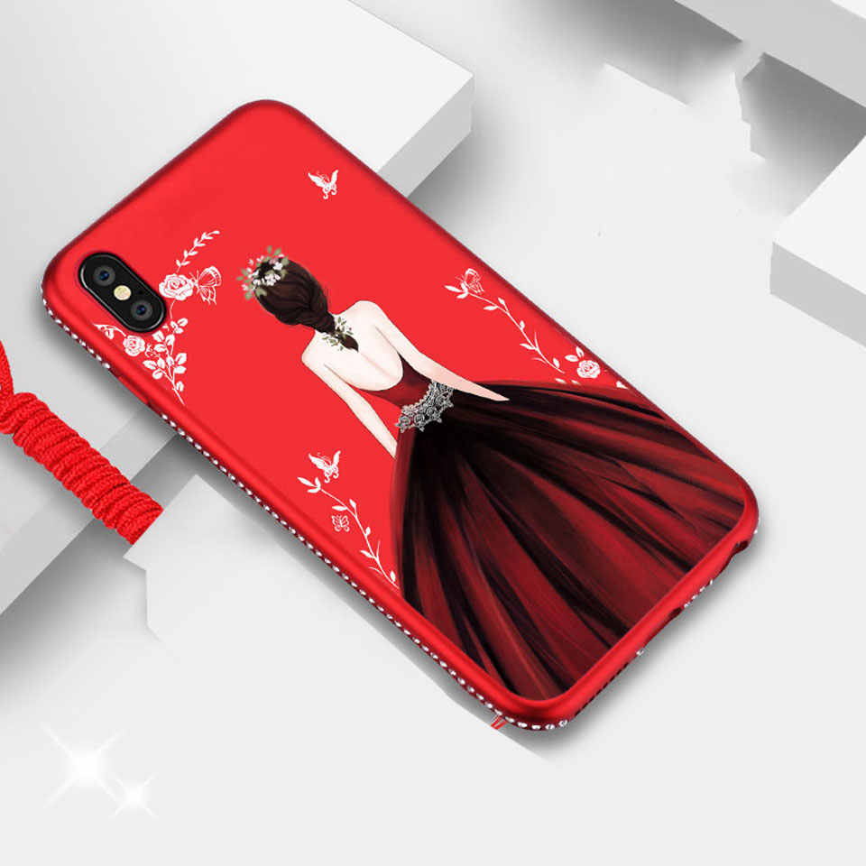 Women Dress Diamond Case For iphone XS MAX Cover Glitter Frame TPU iphone 8 Plus Silicone Case On For iphone XR SE 5s 6 6s 7 8 X