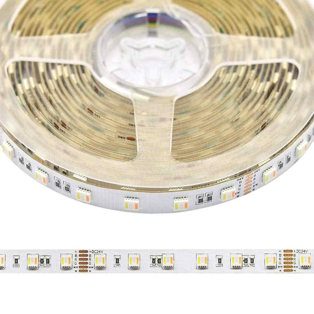 5IN1 RGB + wtc doprowadziły taśmy LED 5050 60 diod LED 30 diod LED 96 diod LED 5 kolorów w 1 chip CW + RGB + WW RGBW RGBWW elastyczna taśma diodowa 12 V 24 V 1 m 5 m