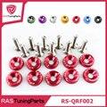 10 unidades/pacote jdm estilo fender anilhas e parafusos de alumínio para honda civic integra rsx ek eg dc rs-qrf002