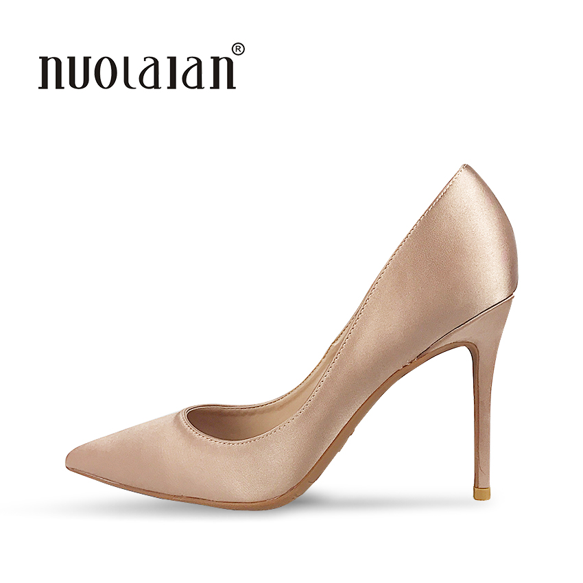 2018 NEW ARRIVE Women Pumps Pointed Toe Thin High Heels Women Shoes Party Wedding Shoes Woman Sexy Ladies Shoes 10cm new spring summer women pumps fashion pointed toe high heels shoes woman party wedding ladies shoes leopard pu leather