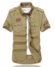 Высококачественный коротким рубашка топы повседневная рукавом мужская с
