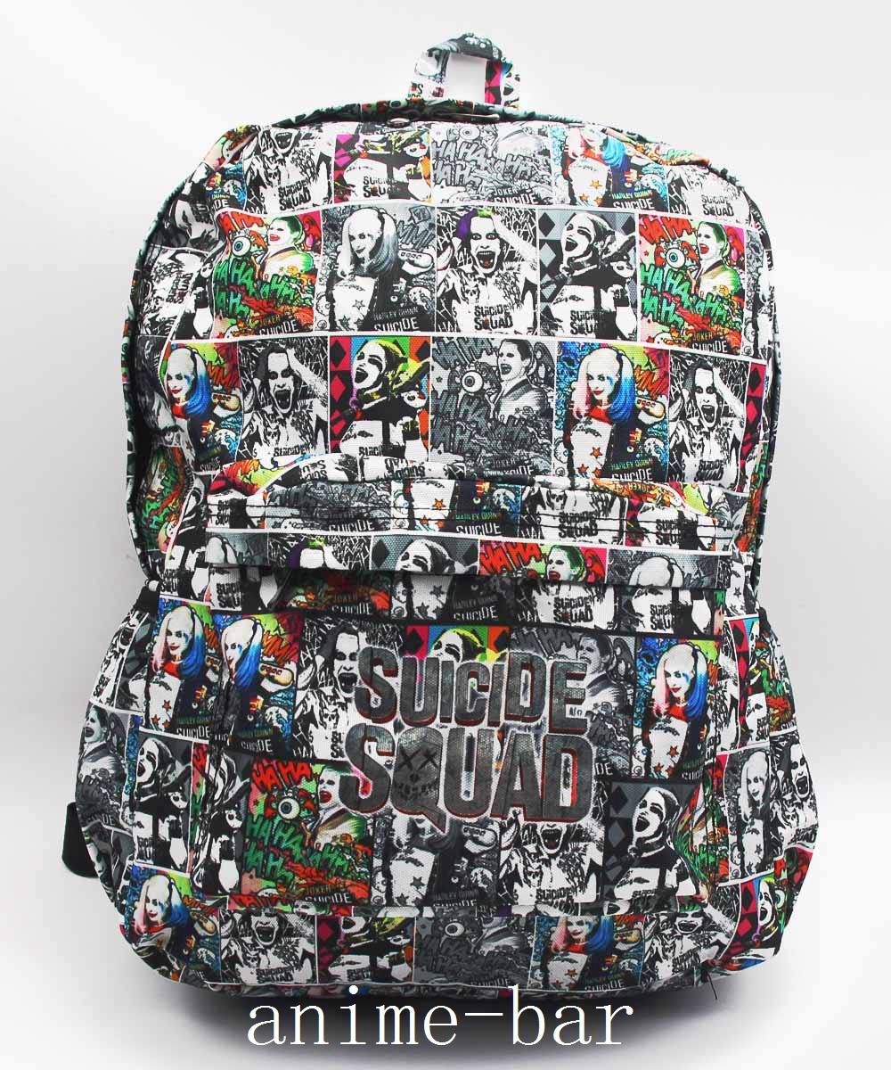 Suicide Squad Harley Quinn Laptop Backpack Hot DC Comics Batman Full Character Shoulder School Bag Unisex Student Bags Bookbag batman detective comics volume 9 gordon at war