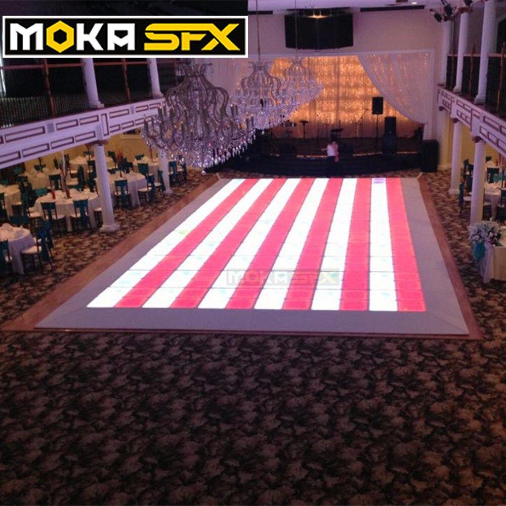48 квадратных метров только корабль к длинному пляжу США DMX СВЕТОДИОДНЫЙ танцпол Led Свадебная Дискотека напольные огни RGB панели танцующий пол