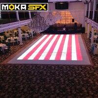 48 Square Meters Only ship to long beach USA DMX Led Dance Floor Led Wedding Disco Floor Lights RGB panel Dancing Floors