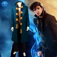 Movie Fantastic Beasts and Where to Find Them Newt Scamander Cosplay Costume Halloween Costumes For Men Full Set Custom Made фигурка newt scamander 4 см