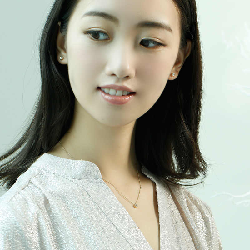 SA SILVERAGE 9 k Vàng Vàng Stud Bông Tai đối với Phụ Nữ AAA Zirconia Bông Tai Bông Tai Đối Với Phụ Nữ Fine Đồ Trang Sức Đá Quý Bông Tai Đồ Trang Sức