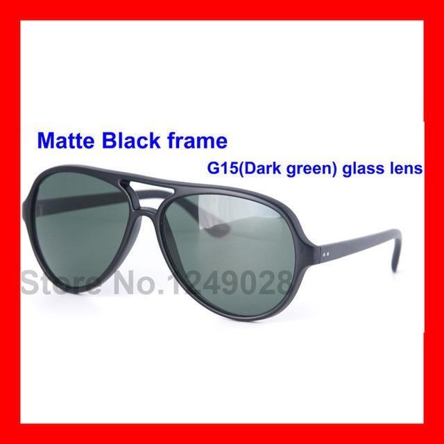 Top grade Unisex Óculos De Sol UV400 Proteção Dos Olhos Preto Moldura Preta Lente de vidro óculos de Sol Óculos de Condução óculos de Sol Das Mulheres Dos Homens
