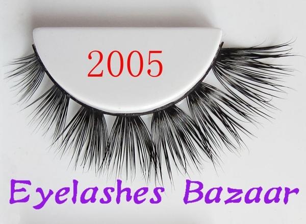 Frete grátis 2005 1 pçs/lote mais fashional natural extensão dos cílios de seda indivíduo 100% real cílios vison