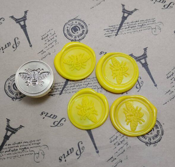For DIY Crawn Bee Pattern Wax Seal Stamp Retro Wooden Antique Sealing Wax Scrapbook Stamps Craft Wedding Decorative Invitation 3