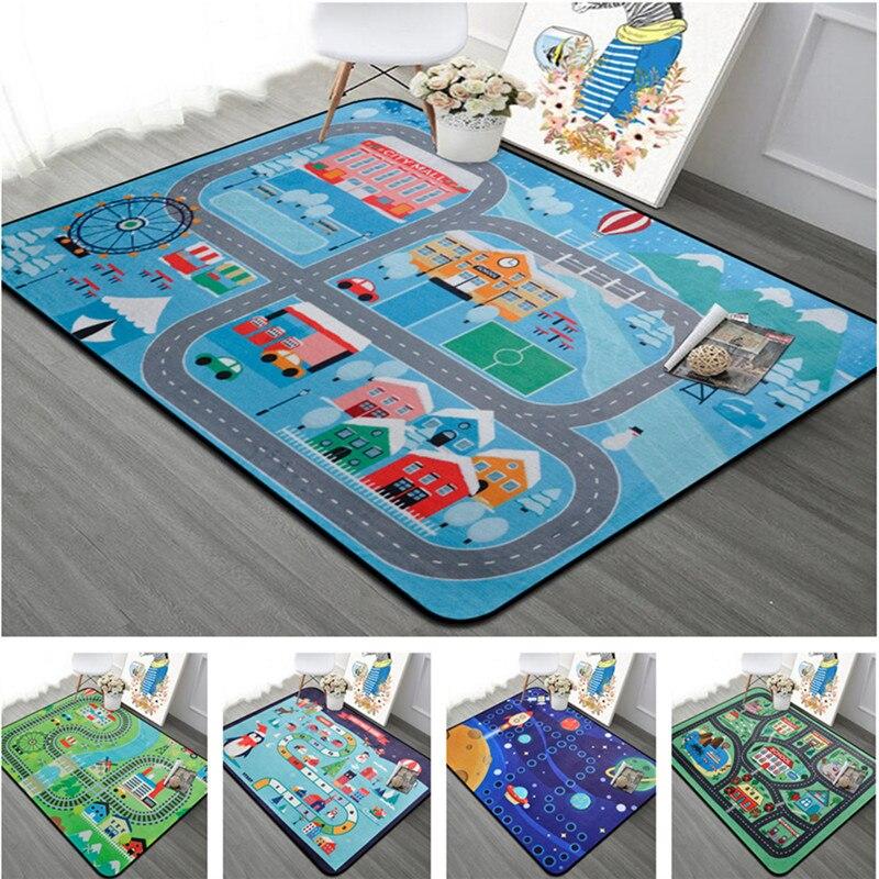 Décor à la maison Enfants chambre tapis round160 * 230 cm VOITURE bébé jouer tapis Patchwork pique-nique couverture ANITSLIP tapetes par casa labyrinthe enfant tapis