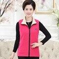 Fall/winter Fleece Vest Plus Size Women's Clothing Mother Both Sides Wear Lapel Solid Zipper Waistcoat Coat Sleeveless Jacket