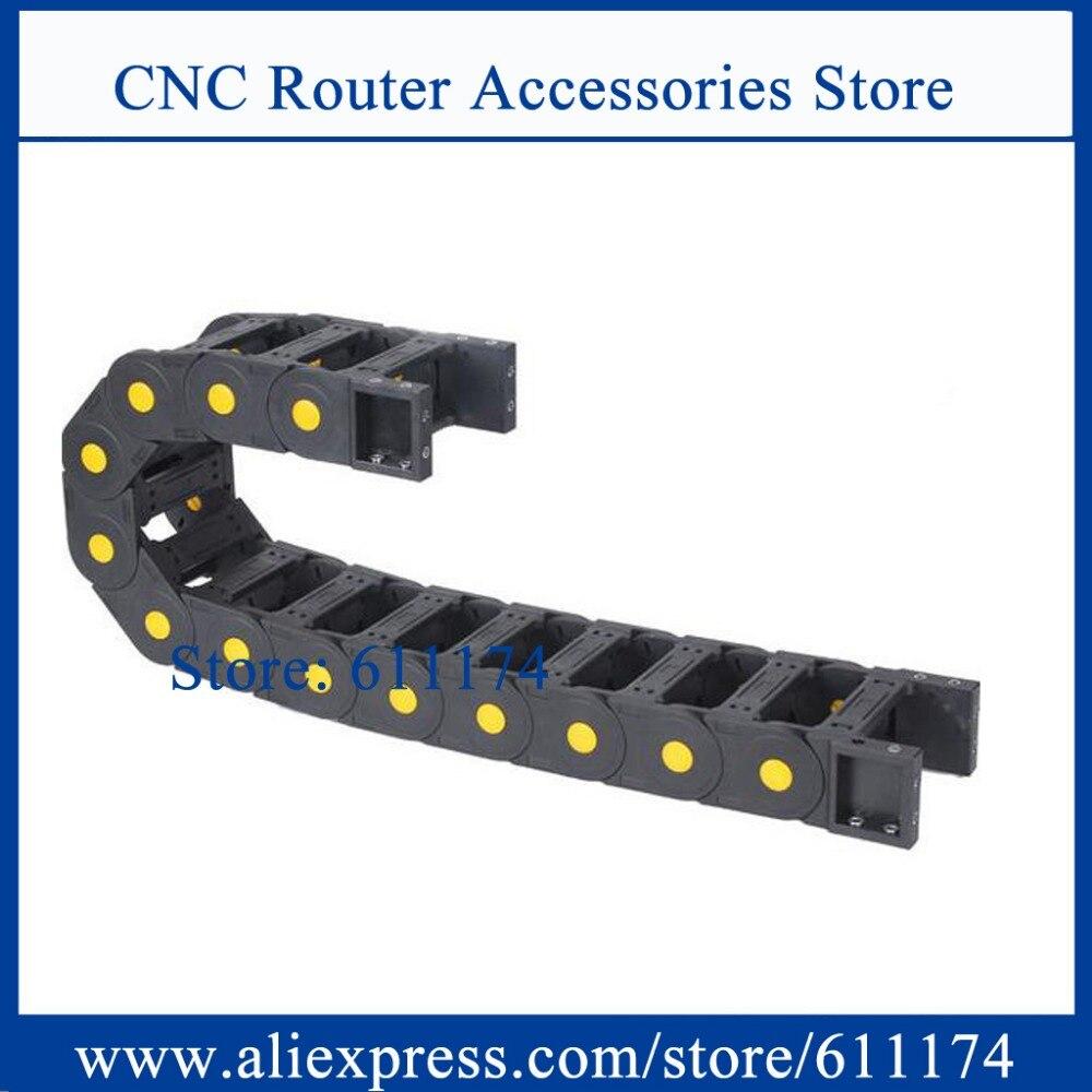 Heimwerker Ketten 1 Meter Schleppkette Innere Größe 45*60mm Dot Pin Nylon Gelb Dot Kabel Kette Maschine Schleppleine Träger