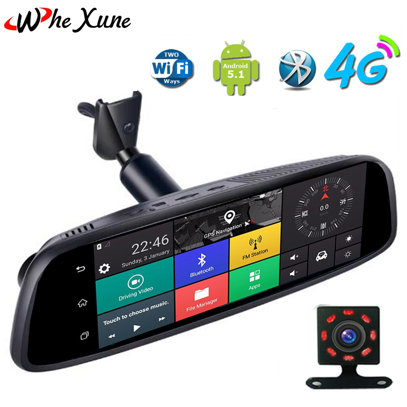 Exterior Consumer Electronics 1080p 4g Ips Car Dvr Camera Rearview Mirror Gps Bluetooth Wifi Android Dual Lens