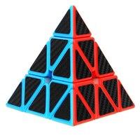 Treeby Pyraminx Pyramid Speed Cube Triangle Carbon Fiber Sticker Twisty Magic Puzzle For Kids Intelligence Development