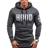2017 New Brand Sweatshirt Men Hoodies Letter Print Fashion Solid Fleece Hoodie Mens Pullover Men S