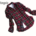 Autumn Plaid Shirt Women Button Down Lapel Checked Long Sleeve Ladies Tops Blusas Mujer Plus Size Woman Clothes Chemisier