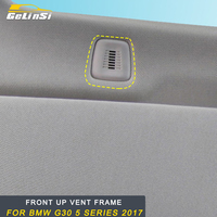 Gelinsi For BMW G30 5 series 2018 2017 Front up vent frame Trim sticker cover Interior Accessories Auto Car styling