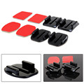 GoPro HERO 4 Sports Camcorder Accessories Flat Curved Adhesive Mount Base With VHB For Gopro Hero 4 3+ 3 Sjcam sj5000 sj6000