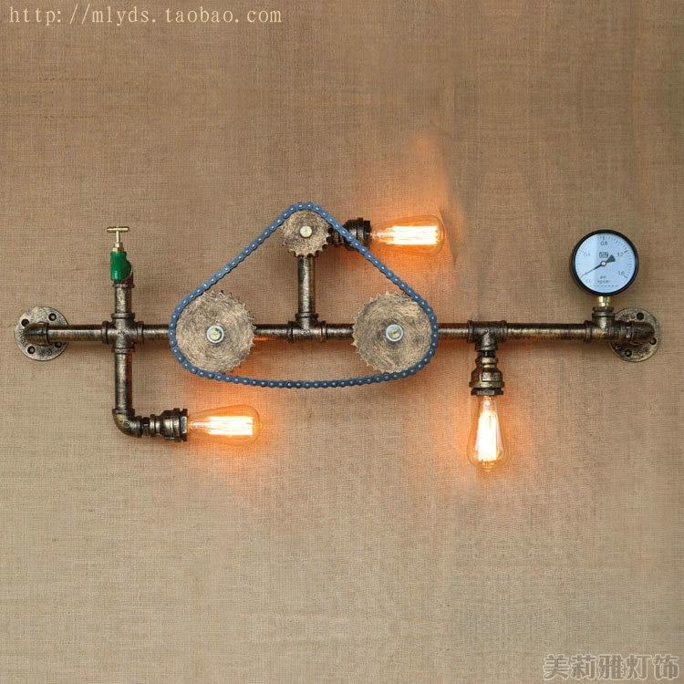 Iwhd Ретро промышленные Винтаж бра с 3 огни столовая <font><b>led</b></font> edison водопровод настенные светильники бра <font><b>aplik</b></font>