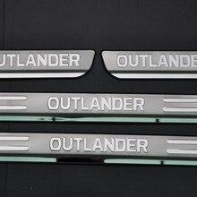 Накладка на порог двери из нержавеющей стали для Mitsubishi Outlander 2013