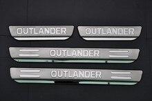 Накладка порога двери из нержавеющей стали для Mitsubishi Outlander 2013-2018