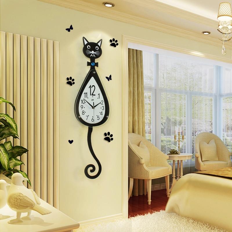 Big Size Cartoon Wall Clock Home Living Room Large Digital Wall ...