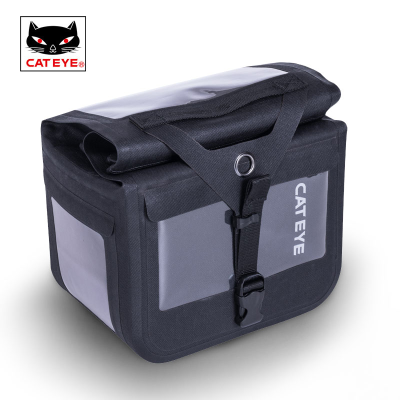 CATEYE Cycling Bike Bicycle Tool Bag Full Waterproof Handlebar Strap Bag Repair Tools Kit Camera SLR Front Bag 6L Pannier Trunk topeak dynawedge bike seatpost bag strap mount saddle bicycle rear bag ultralight bike repair tools pannier bag tc2293b