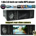 Novo 3.6 ''polegadas tela TFT HD car radio player apoiar câmara de vista Traseira câmera USB/SD aux in 1080 P filme FM din áudio estéreo do carro MP4 mp5