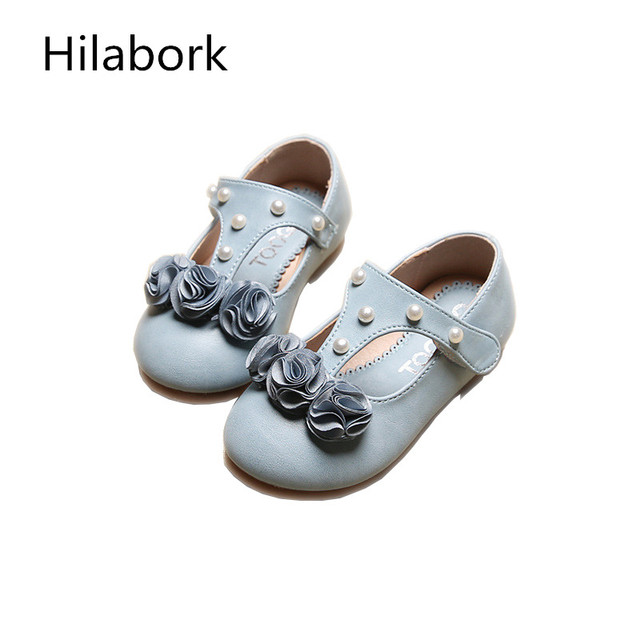 Infant Leather Girls Girls Shoes 2017 Spring New Children's Flowers Casual Girls Princess Shoes Children HOOk & LOOP Baby Shoes