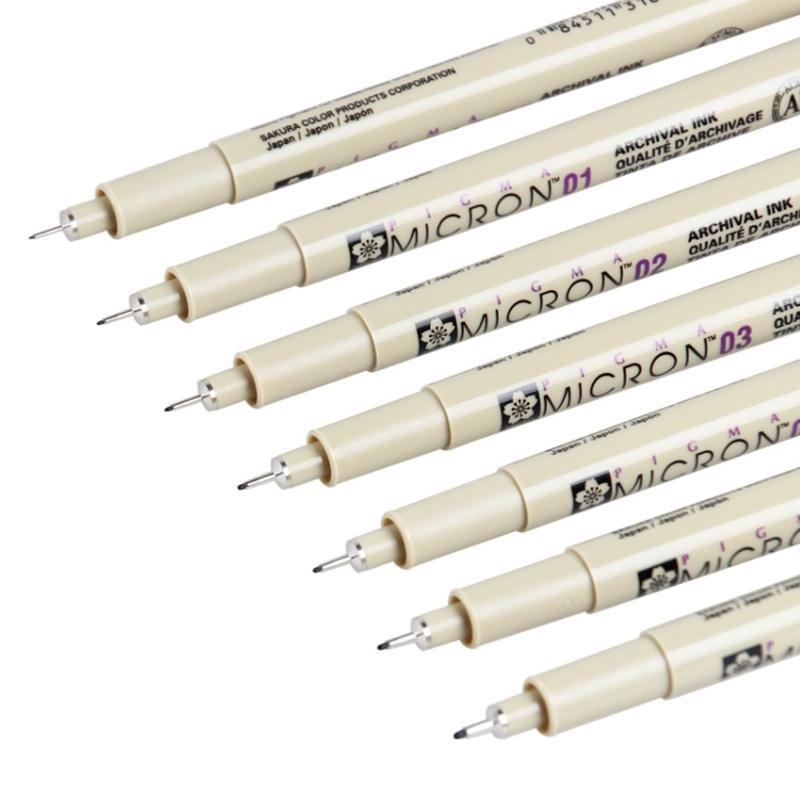 Set of 6 Pigma Sakura Micron Pens 2