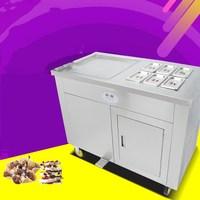 Intelligent square pan Double compressor fry ice cream machine,ice pan machine,fried ice cream roll machine with freezer